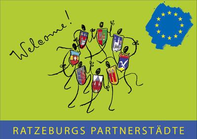 Broschüre der Partnerstädte