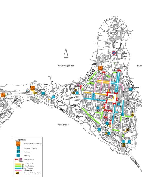 Parkmöglichkeiten auf der Insel