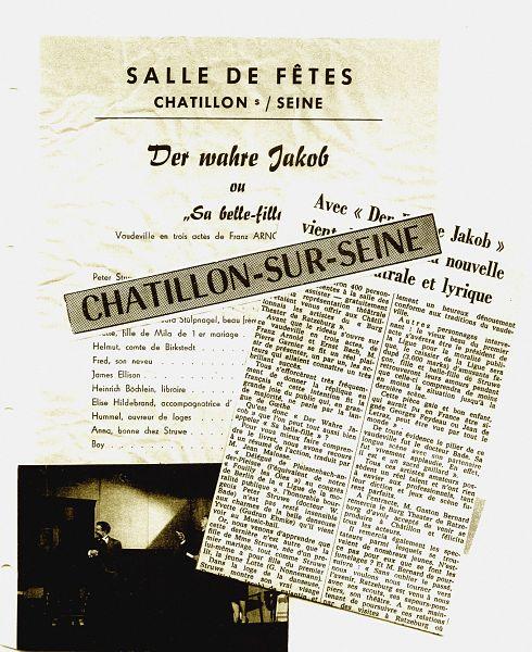 Aufführung des Ratzeburger Theatervereins in Châtillon