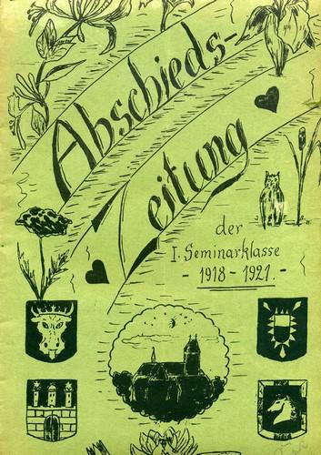 Abschiedszeitung der Seminarklasse 1918 - 1921