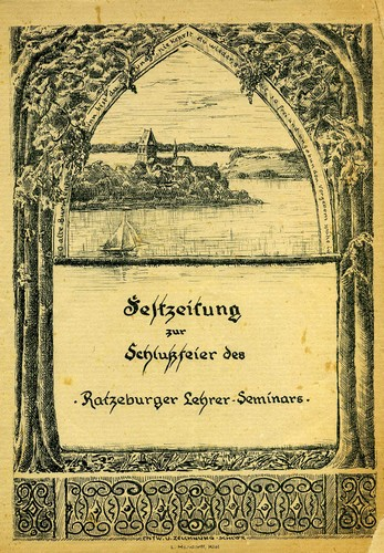 Festzeitung zur Schlussfeier des Ratzeburger Lehrerseminars