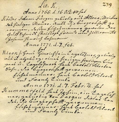 Das älteste Bürgerbuch der Stadt Ratzeburg
