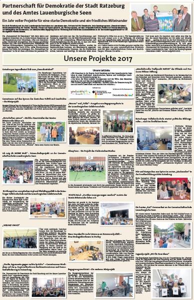 """""""Partnerschaft für Demokratie der Stadt Ratzeburg und des Amtes Lauenburgische Seen""""  - Projekte 2017"""