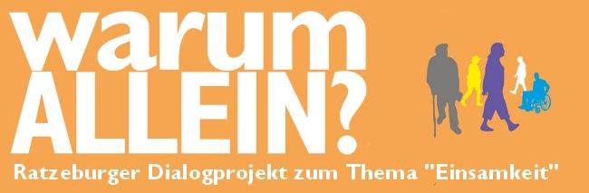 """""""warumAllein"""" - Ratzeburger Dialogprojekt zum Thema """"Einsamkeit"""""""