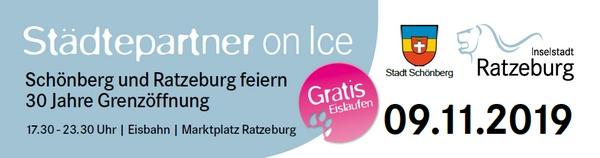 Städtepartnerliches Eislaufen in Ratzeburg