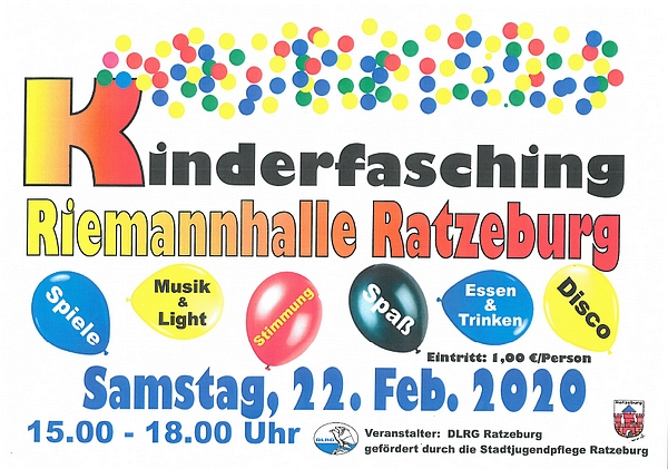Kinderfasching in der Riemannhalle