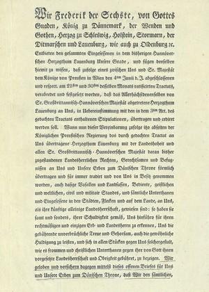 »Königlich dänische Versicherungs-Acte«