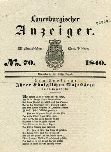 """""""200. Jahrestag - Der dänische König wird Herzog von Lauenburg"""""""