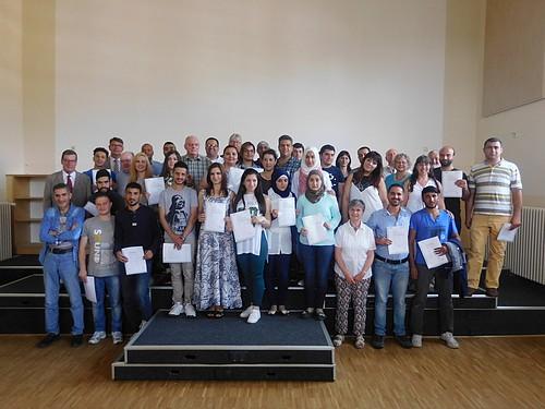 Bild vergrößern: Volkshochschule Ratzeburg entlässt erfolgreiche Sprachschüler*innen
